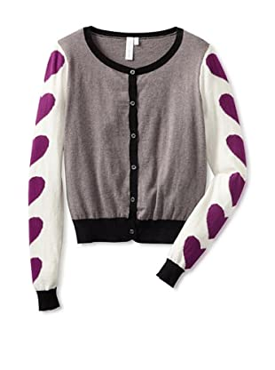 Shae Women's Heart Sleeve Cardigan (Shale/Multi)
