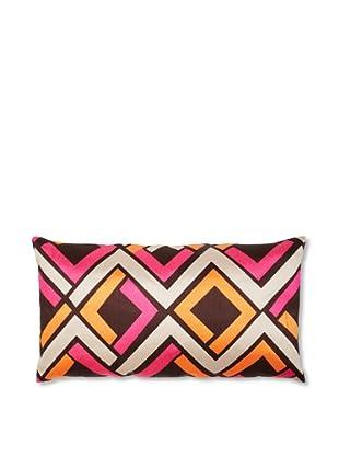 Trina Turk Embroidered Avenida Maze Pillow (Pink/Mango)