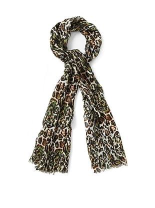Bindya Cashmere Wool Blend Meow Scarf, Jungle