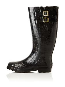 Chooka Women's Crocodilia Rain Boot (Black)