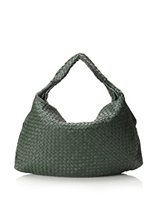 Christopher Kon Women's Ellena Woven Tote, Hunter
