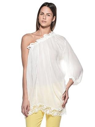 Crema Blusa Asimétrica (Blanco)