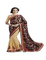 Shaktideal Embellished Floral Half and Half Saree