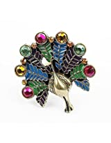 Crunchy Fashion Vintage Peacock Ring for Girls