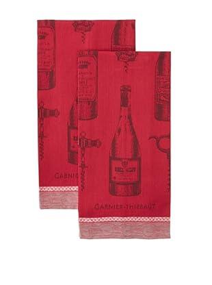 Garnier-Thiebaut Set of 2 Le Vin Kitchen Towels, Syrah