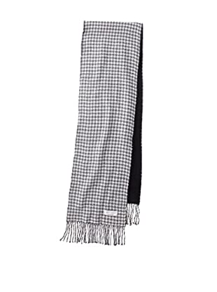 Joseph Abboud Men's Houndstooth Scarf (Charcoal)