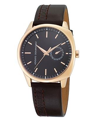 Adolfo Dominguez Watches 64004 - Reloj de Caballero cuarzo correa piel Marrón
