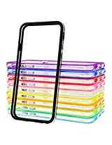 LANSUNS 10PCS 10x Color Ultra Thin Soft Rubber Gel TPU Clear Frame Bumper Cover for iPhone 6 (4.7'' Screen)