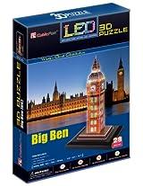 Frank Puzzles LED Architecture - Big Ben 3D - 28 Pieces
