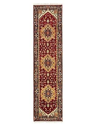 Hand-Knotted Serapi Heritage Wool Rug, Dark Red, 2' 5