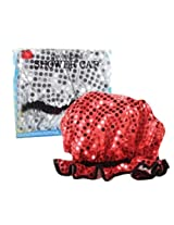 DCI Sequins Glam Shower Cap, Assorted Red and Silver