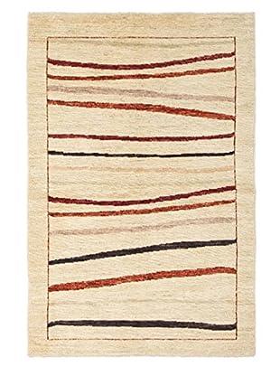 Darya Rugs Modern Oriental Rug, Beige, 3' 9