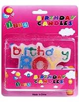 Birthday Candle Multicolor - Birthday Boy Theme