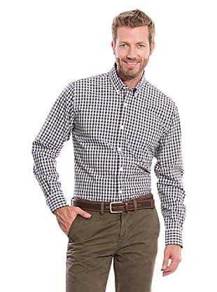 Cortefiel Camisa Sport (Marrón Oscuro)