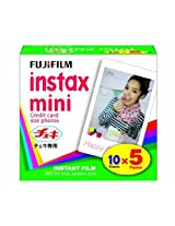 FUJIFILM Instax Mini Cheki Film 5pack(10picture X5) [Camera]