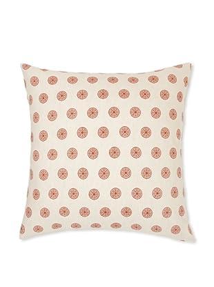 Handmade Interiors Chakra Hand Screen Pillow Cover, Indian Rust