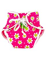 Reusable Swim Diaper | Pink Daisies Size , X-Large