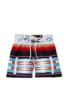 Azul Swimwear Boy's Sarape Boardshorts (Blue)