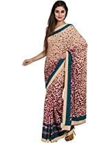 Parchayee Women's Synthetic Saree (94156D, Beige, Free Size)