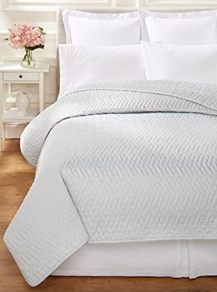 Quilted Sateen Coverlet (Light Grey)