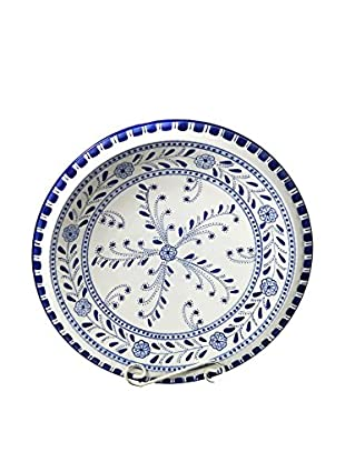 Le Souk Ceramique Azoura Large Serving Bowl, Blue/White