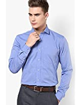 Blue Colour Solid Formal Shirt
