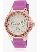 Benicia Es106622003 Pink/White Analog Watches Esprit