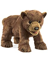Folkmanis Bear Cub Hand Puppet Plush, Brown