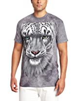 The Mountain Men's Snow Leopard T-Shirt, Gray, Small