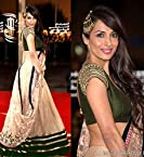 Beige & Green Lehenga Choli Worn By Deepika Padukone (Bollywood Replica)