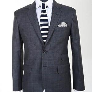 Gwalior Suitings Black Men Suit Length GS Suit 101