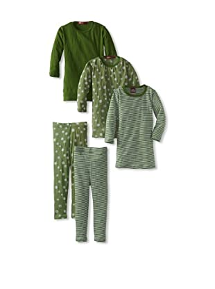 Red Wagon Baby Girl's 5-Piece Mix and Match Set (Emerald)