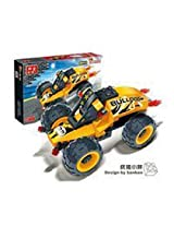 BanBao Building Blocks Racer Pull Back Action Car Bricks-- Monster 8618