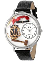 Whimsical Watches Unisex U0610001 Lawyer Black Skin Leather Watch