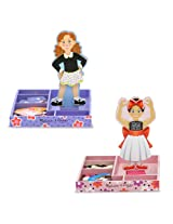 Melissa & Doug Bundle #1 Magnetic Dress-Up, 2-Pack