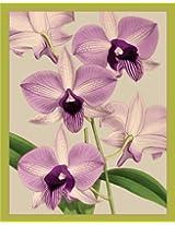 Entertaining with Caspari Bridge Tallies, Lavender Orchids