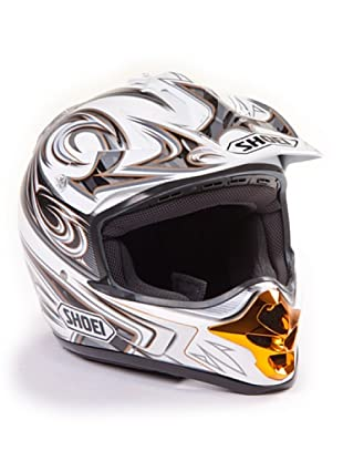 Shoei Casco V-Moto Grafica (Blanco / Oro)