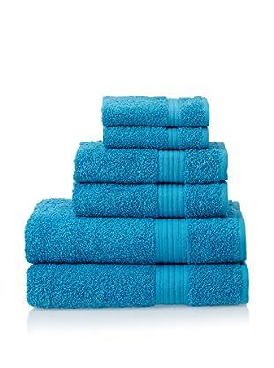 Chortex 6-Piece New Savannah Towel Set, Kingfisher Blue