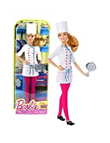 Mattel Year 2015 Barbie Career Series 12 Inch Doll Barbie As Chef (Dhb22) With Chef Hat And Pan