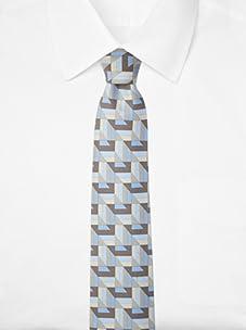 Hermès Men's New Box Tie, Blue/Grey, One Size