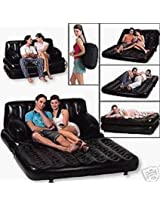 Unique Gadget 5 in 1 Inflatable Sofa Air Bed Couch with Free Electric Pump