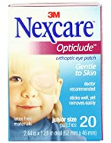 Nexcare Opticlude Orthoptic Eye Patches, Junior Size, 20-Count Boxes (Pack of 4)