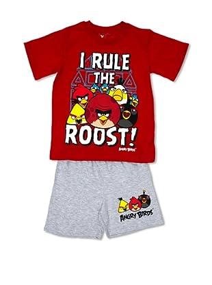 Licencias Pijama Angry Birds (Rojo / Gris)