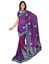 Sehgall Saree Indian Ethnic Professional Georgette Embroidery Fancy Saree Saree