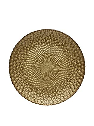 Easy Exotic Glass Dessert Plate, Gold, Set of 4