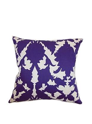 The Pillow Collection Fakahina Damask Pillow, Amethyst