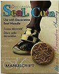 Manuscript Pen 727SNF Decorative Seal Coin, 0.75-Inch, Snowflake