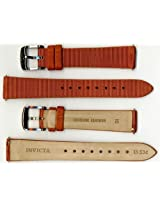 Invicta Genuine Ladies 16mm Brown Satin Ribbed Leather Watch Strap IS534