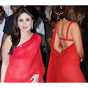 Kareena Kapoor In Red Saree At Navin And Mahek Shetty'S Wedding Reception