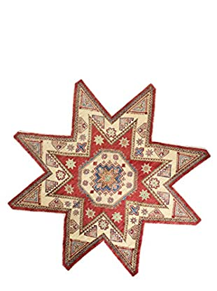 Bashian Rugs One-of-a-Kind Hand Knotted Paki Kazak Rug, Red, 7' 3
